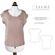 Angel Sleeve Top Sewing Pattern - simple flowy top