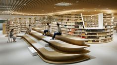 Library architecture - Kikuchi City Central Library by Nomura Co , LTD 2018 Best of Year Winner for Library – Library architecture Public Library Design, Bookstore Design, City Library, Central Library, Modern Library, Library Plan, Central City, Library Books, Design Japonais