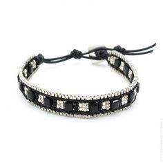 Bracelet little indiana black - Lili Shopping  #bijoux #bijouxcreateur