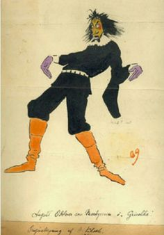 Andreas Bloch kostymetegning 1909