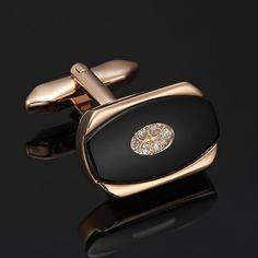 Stunning Cubic Zirconia Stainless Steel Bronze Galaxy Mens Cufflinks | RnBJewellery