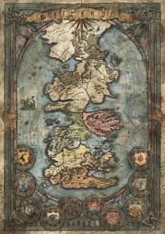 Westeros Map - Game of Thrones