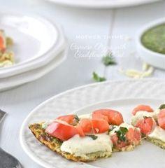 Super Light Caprese Pizza with Cauliflower Crust
