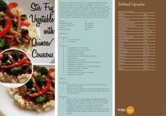 Stir Fry Vegetable with Quinoa Couscous    http://vegetarianbody.com/wp-content/uploads/recipe-volume-1.pdf