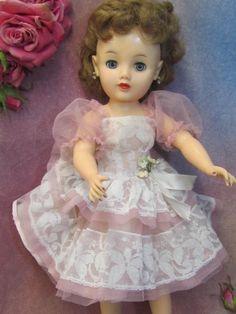 VINTAGE 1950's VT-20 MISS REVLON doll ORIGINAL pink DRESS shoes LINGERIE hair