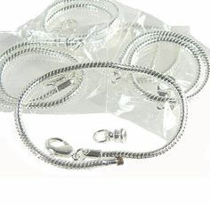 New Easy Bead 5 Pack 8 Inch Snake Chain Fits Pandora Chamilia Troll Biagi Beads and Smaller 3.5mm Holes Silver Plated Brass Sold in Package of 5 Bracelet Chains, http://www.amazon.com/dp/B008FZK4S0/ref=cm_sw_r_pi_awdm_wIdjtb1EKYR37