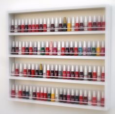 Cute Nail Polish, Nail Polish Storage, Nail Parlour, Home Nail Salon, Makeup Room Decor, Beauty Salon Decor, Space Saving Furniture, Home Office Chairs, Salon Design