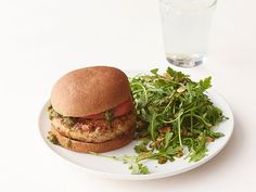 Pesto Chicken Burgers Recipe : Food Network Kitchen : Food Network - FoodNetwork.com