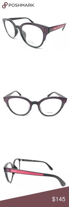 56d45c45da0 Prada Eyeglasses VPR08U Pink black Frame New