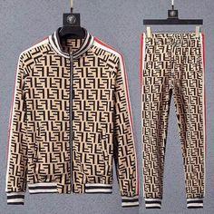 Luxury Men's Fashion Designer Tracksuits,Sweatshirts & Hoodies for Men Indian Men Fashion, New Mens Fashion, European Fashion, Men's Fashion, Gucci Sweat Suit, Fendi, Designer Tracksuits, Versace T Shirt, Track Suit Men