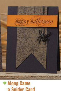 Halloween card from paper crafts