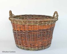 large round willow basket