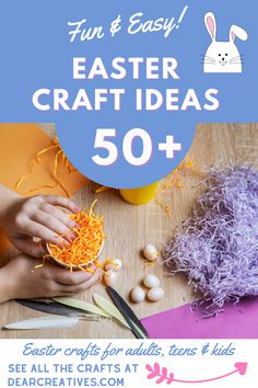 Way over 50+ Easter Craft Ideas To Make - Easter Crafts for adults, teens, and kids. These are fun and easy ideas anyone can make! Find out more at DearCreatives.com #eastercrafts #eastercraftideas #funeastercrafts #easyeastercrafts #lastminuteeastercrafts #craftsforEaster #eastercraftsadults #eastercraftskids #eastercraftsteens Easter Crafts For Adults, Easter Crafts For Kids, Teen Kids, Diy Easter Decorations, Easter Celebration, Easter Dinner, Easter Treats, Easter Recipes, Easter Baskets