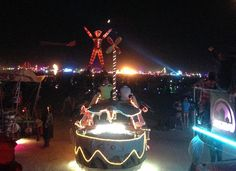 view from an Art Car before the burn