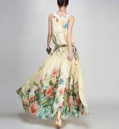 spring dress summer dress women clothing chiffon dress by handok