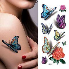 3D-Kolorowe-Butterfly-Rękaw-Tatuaż-Wodoodporna-Tymczasowe-Tatuaże-Motyl-Kobiet-Sexy-Body-Art-Naklejki.jpg (800×800)