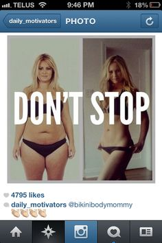 Motivation - don't stop loose weight and be fit #fitness #woman #looseWeight