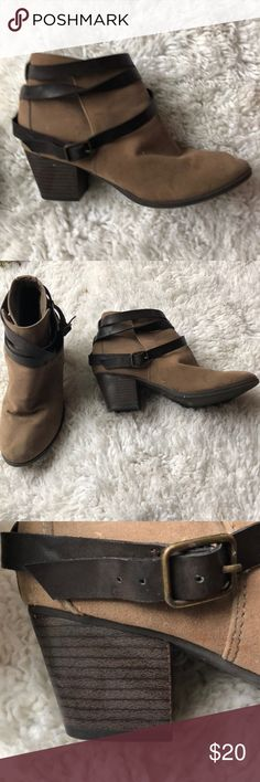 WOMENS BOOTIES They are super cute! They are a little squished because they've been in my closet but that will go away once a foot is placed in them. I only wore these twice Mossimo Supply Co Shoes Ankle Boots & Booties