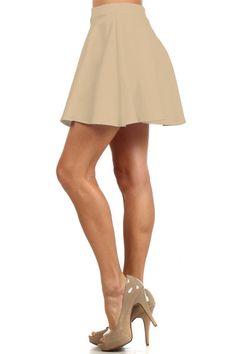 Bella Skater Skirt - Beige