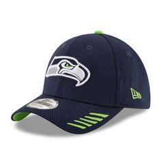 3a2a022014d Seattle Seahawks New Era Tech Grade 39THIRTY Flex Hat - College Navy