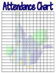 Free printable sunday school attendance chart cakepins com