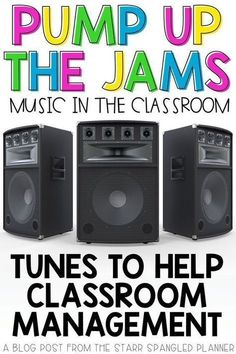 Looking for ways to incorporate music in the classroom? This post is full of great ideas for songs, playlists, and ways to integrate music into your daily teaching routines. Whether to help with classroom management and transitions, or just for fun, this 4th Grade Classroom, Classroom Behavior, Classroom Community, Classroom Setup, Music Classroom, Future Classroom, Classroom Organization, Classroom Playlist, Classroom Management Songs