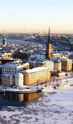 Winter in Stockholm, Sweden <3 How beautiful!