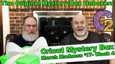 """Cricut Mystery Box - March Madness 2017 Unboxing - Week #4 - http://www.craftsbytwo.com/cricut-mystery-box-march-madness-2017-unboxing-week-4/ Yes! You can open it now. Sorry, I was talking to George… It's the final week of March Mystery Box Madness from Cricut. Join us to see what we received!  Visit our blog for easy shopping links, the best coupon code, with a gallery and list of the Mystery Box contents if you don't want to watch the video!  Check out """"Cricut Myste"""