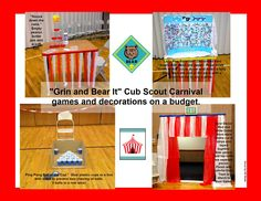 "Cub Scouts Bear Adventure ""Grin and Bear It"" carnival ideas."