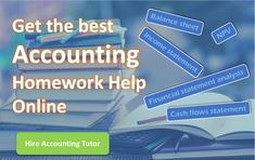 Get the best homework help from qualified accounting tutors for your accounting questions. Find A College, Accounting Help, Find A Tutor, Rent Textbooks, Cash Flow Statement, Commute To Work, Financial Information, Online Tutoring, Study Help