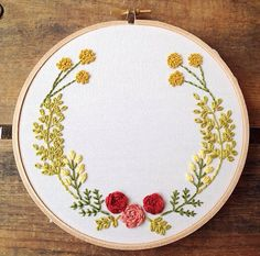 Personalized Wedding Embroidery Hoop by bugandbeanstitching
