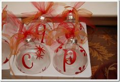 DIY ornaments.  Making these this year!