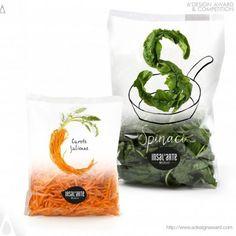Insal'Arte Food packaging (Fresh Salad) by Mirco Luzzi Packaging Awards, Salad Packaging, Rice Packaging, Cool Packaging, Food Packaging Design, Brand Packaging, Plastic Packaging, Product Packaging, Vegetable Packaging