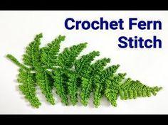 (272) Crochet Fern Leaf - YouTube