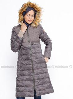 Kaz Tüyü Manto - Haki Winter Jackets, Fashion, Winter Coats, Moda, Winter Vest Outfits, Fasion, Fashion Illustrations, Fashion Models