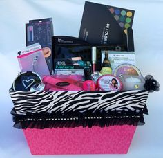Deluxe Zebra Sparkle Gift Basket