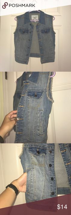 American Rag denim vest American Rag denim vest worn once size XS American Rag Jackets & Coats Vests