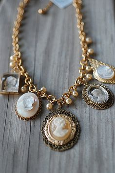 27 collection: upcycled vintage jewelry and sterling silver creations Cameo Necklace, Pendant Necklace, Upcycled Vintage, Stones And Crystals, Handcrafted Jewelry, Bridal Jewelry, Vintage Jewelry, Jewelry Making, Water Pearls
