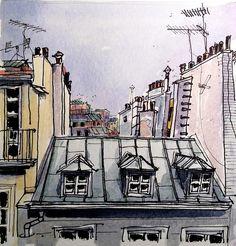 Toits de Paris by P h i l de couleur, via Flickr