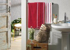 Jogo de toalhas Calera. Barra Jacquard, gramatura 380 g/m².