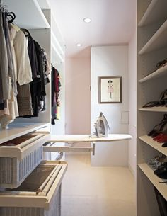 If you are going to build the ultimate walk in closet than this ironing board is a must!!!