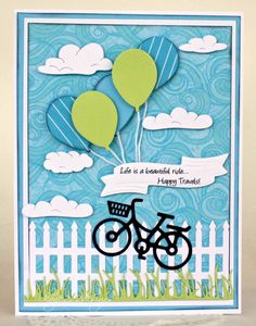 Happy Travels - Scrapbook.com - Pretty handmade card with perfect diecutting!