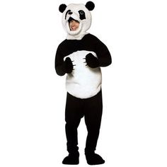 Create panda-monium in this adorable furry costume! Panda costume includes furry polyester tunic with attached paws, Panda headpiece, pants and shoe covers! One size fits most adults. Panda Costumes, Animal Costumes, Adult Costumes, Cosplay Costumes, Mascot Costumes, Cool Halloween Costumes, Halloween Ideas, Adult Halloween, Bear Halloween