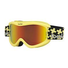 855c00777aec Bolle Volt Plus Snow Goggles - Matte Yellow Cross Frame - Sunrise Lens -  21359