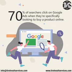 Did you know! 70% of searchers click on Google Ads when they're specifically looking to buy a product online.  #DidYouKnow #GoogleAds #stats #PPC #advertisement #socialmediamarketing #paidads #paidsearch #SearchEngineOptimization #DigitalMarketing #tuesdaytip Google Look, Google Ads, Digital Marketing Services, Social Media Marketing, Website Design Services, Looking To Buy, Search Engine Optimization, Web Development, Service Design