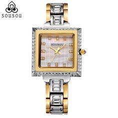 Designer Square Quartz Montre Femme Crystal Ladies Bracelet luxury Watch