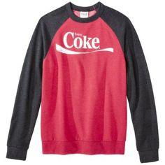 Men's Coke Raglan Fleece - Washed Red