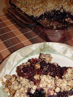RunAmok Mama's Bramble-Berry Crumble!  (S for Trim Healthy Mama)  Sugar-free!