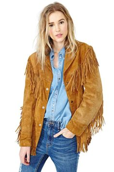 New Women's Suede Leather Tan Fringe Native American Western Style Cowboy Jacket XS to Size Available handmade Stuff Suede Jacket made with 100 % Genuine Top Quality Cowhide Leather Beads Bones and Long Fringe Used, Plastic Bones Us. Fringe Coats, Fringe Jacket, Coats For Women, Jackets For Women, Native American Women, Western Wear, Western Style, Suede Jacket, Jackets Online