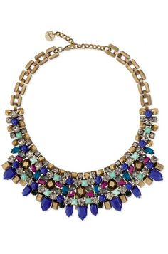 Find fashion necklaces, trendy necklaces, pendants, style to impress with this color bib bib necklace featuring glass beads & metal beads from Stella & Dot.